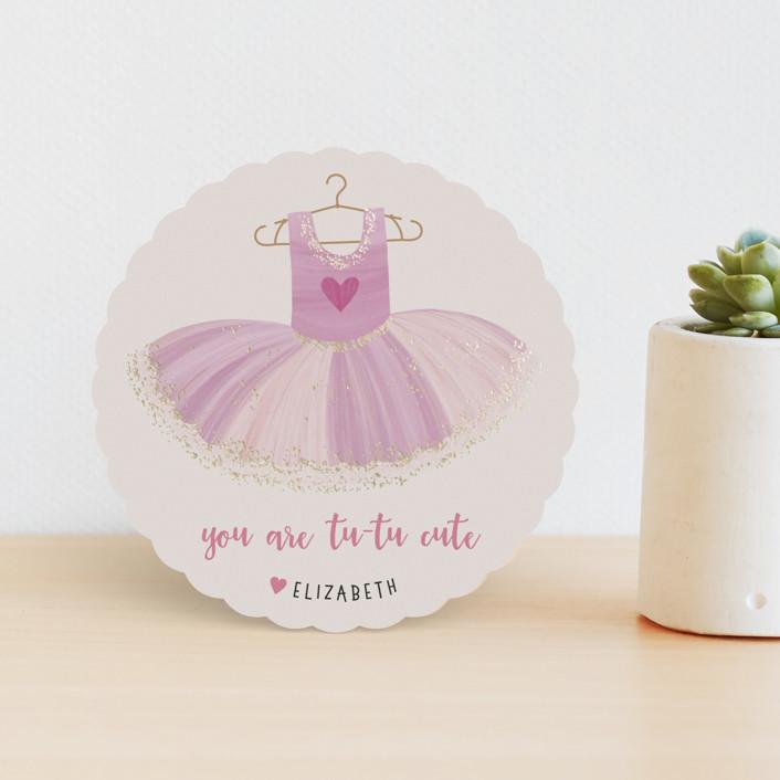 """""""Tutu Cute"""" - Foil Valentine Cards in Lavender by Stellax Creative."""