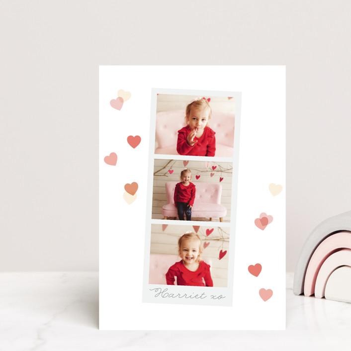 """Confetti"" - Postcard Classroom Valentine's Day Cards in Rosebud by Caitlin Considine."