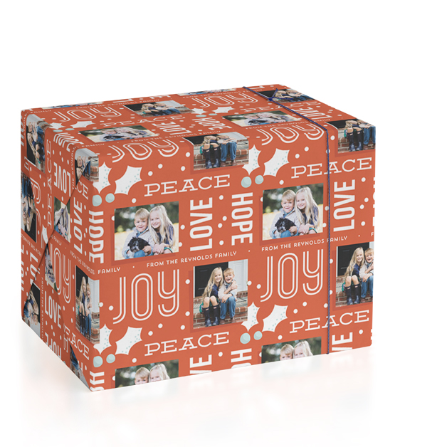 Holly Pop Personalized Wrapping Paper