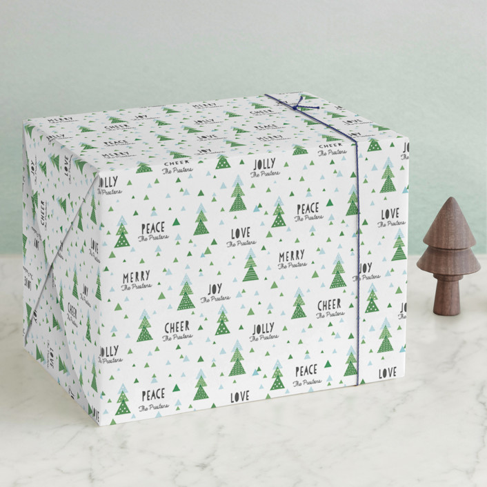 """Little Forest"" - Wrapping Paper in Spruce by Sharon O.."