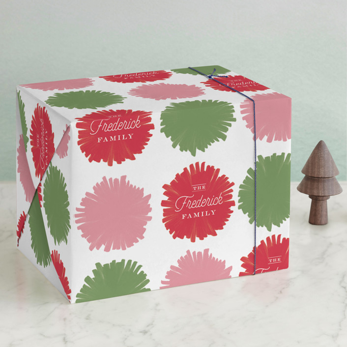 """Festive Fab"" - Modern, Preppy Wrapping Paper in Merry by Carrie ONeal."