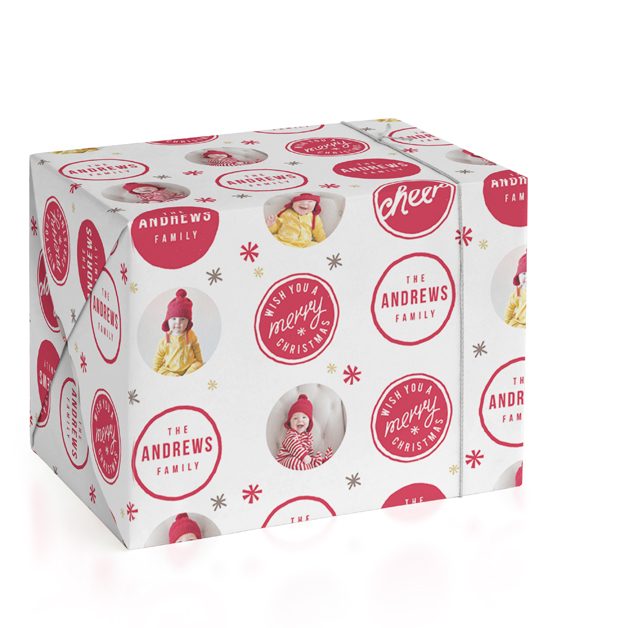 A Merry Christmas Personalized Wrapping Paper