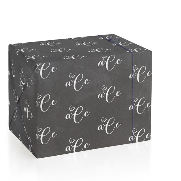 Chalkboard Monogram Wrapping Paper