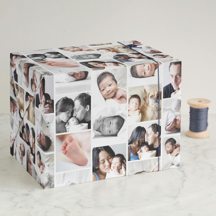 """Photo Collage"" - Wrapping Paper in Photos by leslie hamer."
