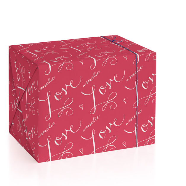 Love Wrap Personalized Wrapping Paper
