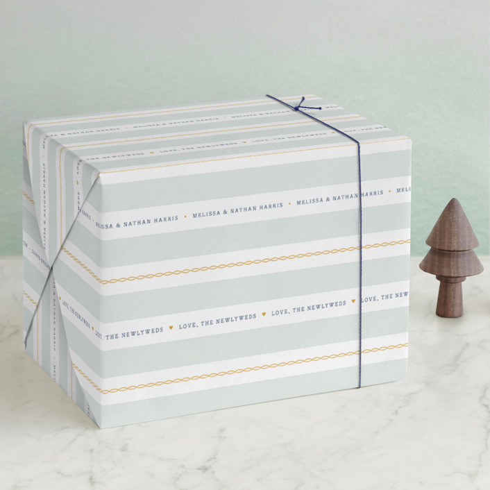 """""""Nautical"""" - Wrapping Paper in Seafoam by Jill Means."""