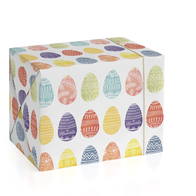 Easter gift wrap minted painted eggs wrapping paper by 2birdstone negle Choice Image