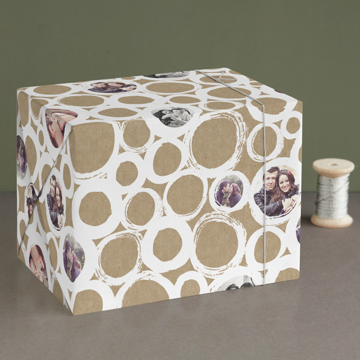 """Bubble Circles"" - Abstract Wrapping Paper in Lace by Alethea and Ruth."