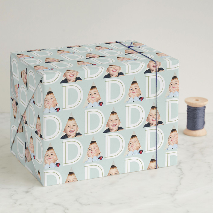 """DAD"" - Wrapping Paper in Sky by Lauren Chism."