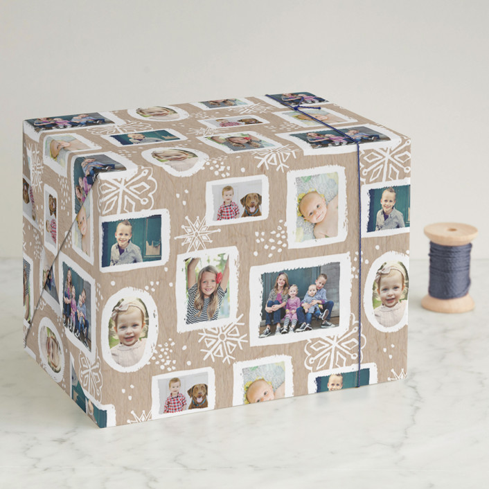 """Painted Frames"" - Wrapping Paper in Kraft by Melanie Severin."