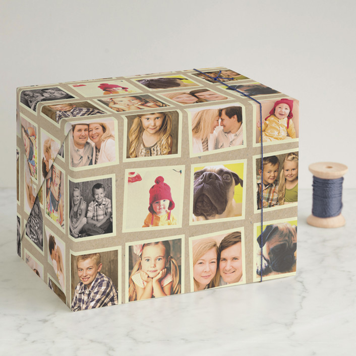 """""""Cool Collage"""" - Wrapping Paper in Kraft by Up Up Creative."""