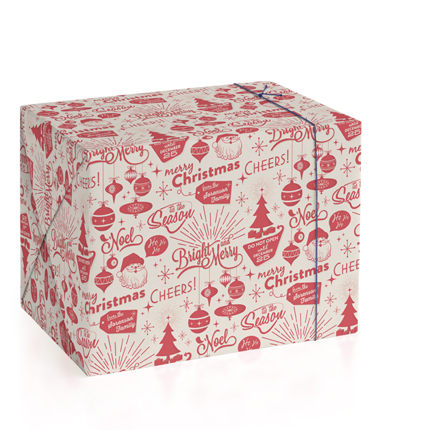 Christmas Time Personalized Wrapping Paper