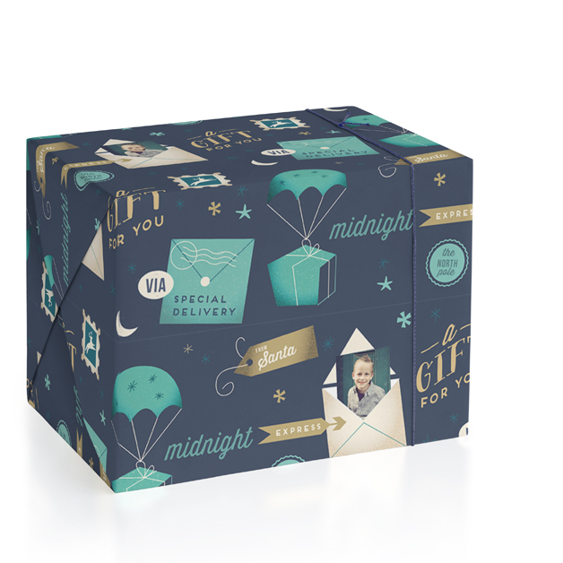 Merry Express Personalized Wrapping Paper