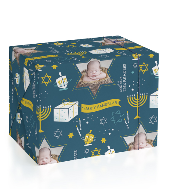 8 Nights Personalized Wrapping Paper