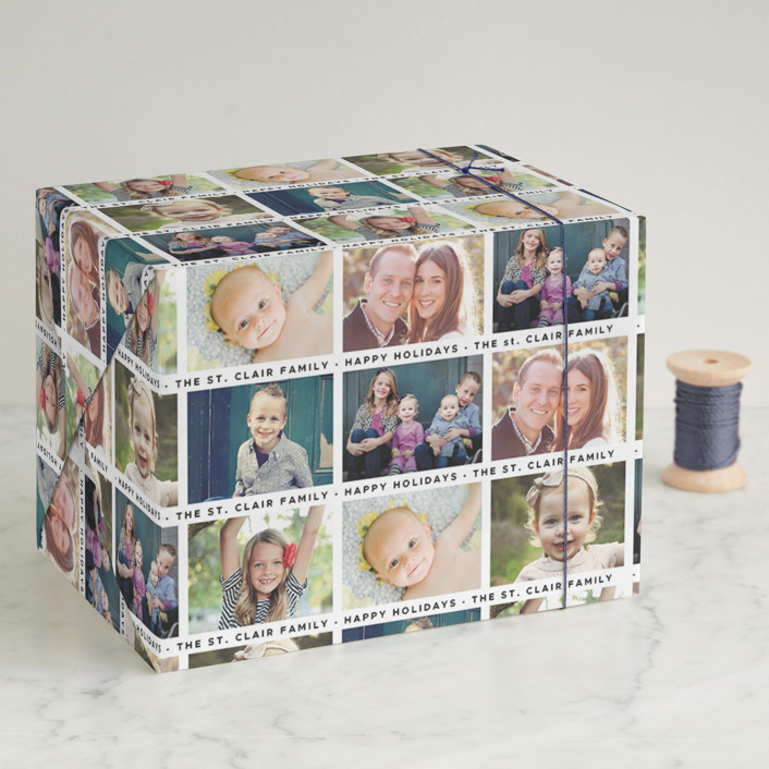 """The Gangs All Here"" - Wrapping Paper in Onyx by Christina Novak."