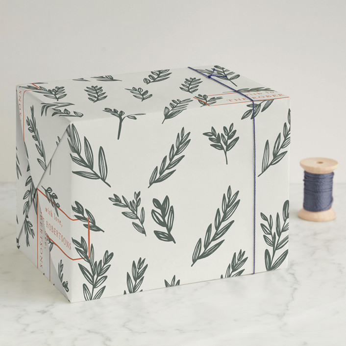 """Twigs & Branches"" - Rustic Wrapping Paper in Cream by Blustery August."