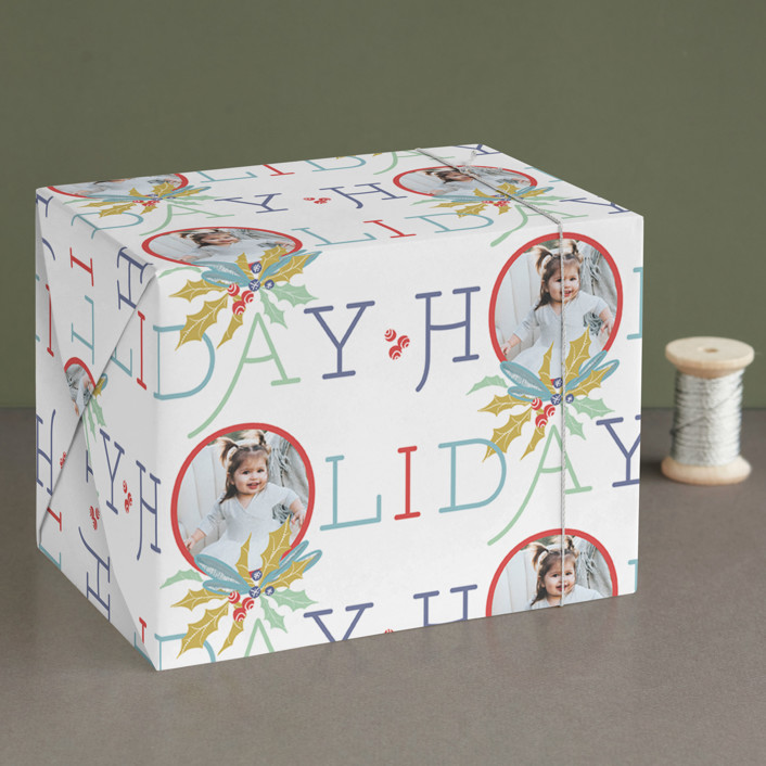 """""""Oh Big Holiday"""" - Wrapping Paper in Gum Drops by CaroleeXpressions."""