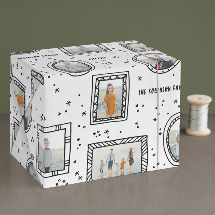 """Funky frames"" - Wrapping Paper in Inky by Sweta Modi."