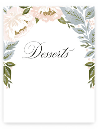 peony floral frame Small Signs