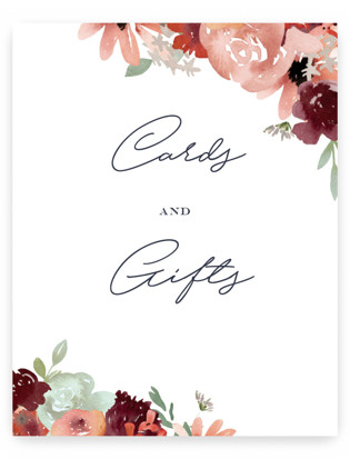 cascading florals Small Signs