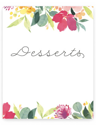 Watercolor Blossoms Small Signs