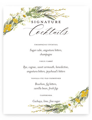Organic Florals Small Signs
