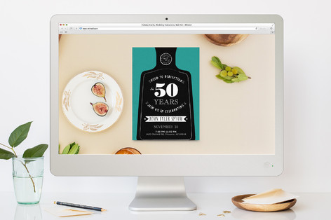 aged to perfection birthday party online invitatio minted