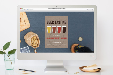Beer Tasting Birthday Party Online Invitations