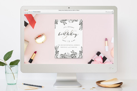 Botanical Birthday Party Online Invitations