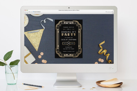 The Roaring 20S Birthday Party Online Invitations