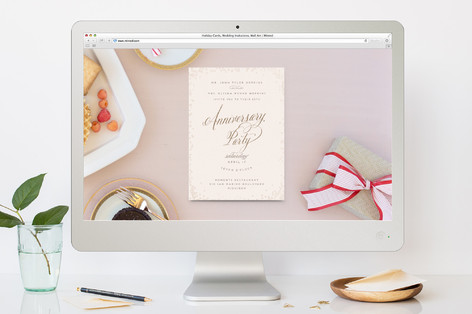 Pinot Anniversary Party Online Invitations