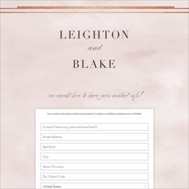 This is a white digital wedding address collection card by Hooray Creative called Forever Elegant printing on digital paper.