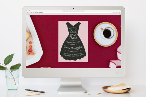 Dressed in Black Bachelorette Party Online Invitations
