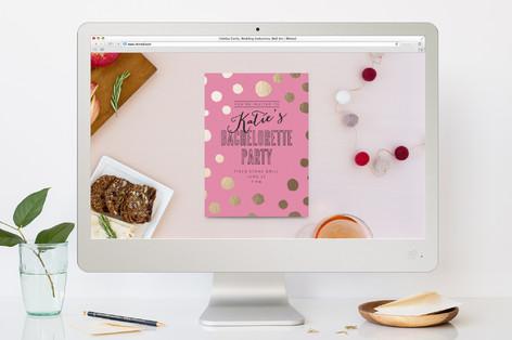 Golden Confetti Bachelorette Bachelorette Party Online Invitations