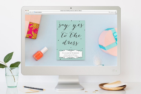 Say Yes to the Dress Party Bachelorette Party Online Invitations