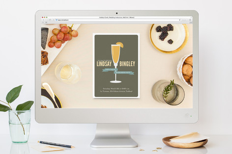 fresh mimosa bachelorette party online invitations minted