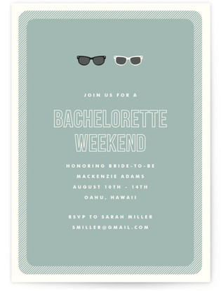 Shades Bachelorette Party Online Invitations