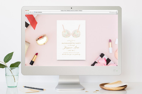 pretties bachelorette party online invitations by minted