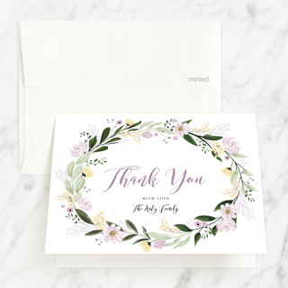 Floral Sprinkle Bris and Baby Naming Thank You Card