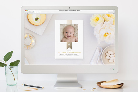 Baptism Ribbon Baptism and Christening Online Invitations
