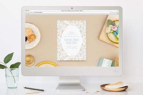 Floral Framed Baptism and Christening Online Invitations