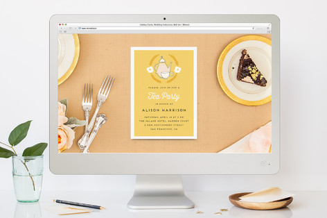 Tea For All Brunch Online Invitations