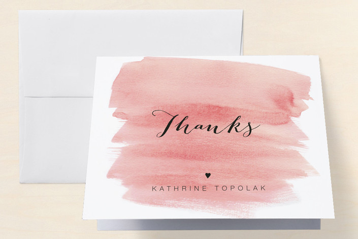 """""""Classic"""" - Modern Bachelorette Party Thank You Cards in Rose Pink by Magdalena Earnest."""