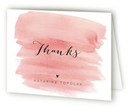 This is a pink wedding thank you card by Magdalena Earnest called Classic with standard printing on strathmore in standard.