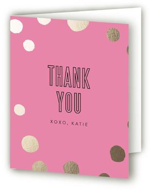Golden Confetti Bachelorette Bachelorette Party Thank You Cards