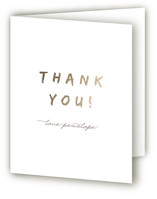 This is a gold wedding thank you card by Up Up Creative called Last Fling Bling with standard printing on strathmore in standard.