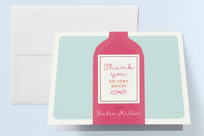 """Tippling Bachelorette"" - Bachelorette Party Thank You Cards in Seascape by Shari Margolin."