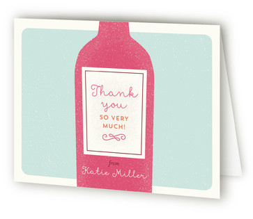 Tippling Bachelorette Bachelorette Party Thank You Cards