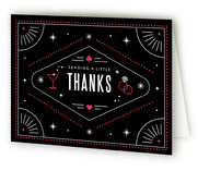 This is a pink wedding thank you card by Kristen Smith called Viva Las Vegas with standard printing on strathmore in standard.