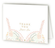 This is a green wedding thank you card by Phrosne Ras called Pretties with standard printing on strathmore in standard.